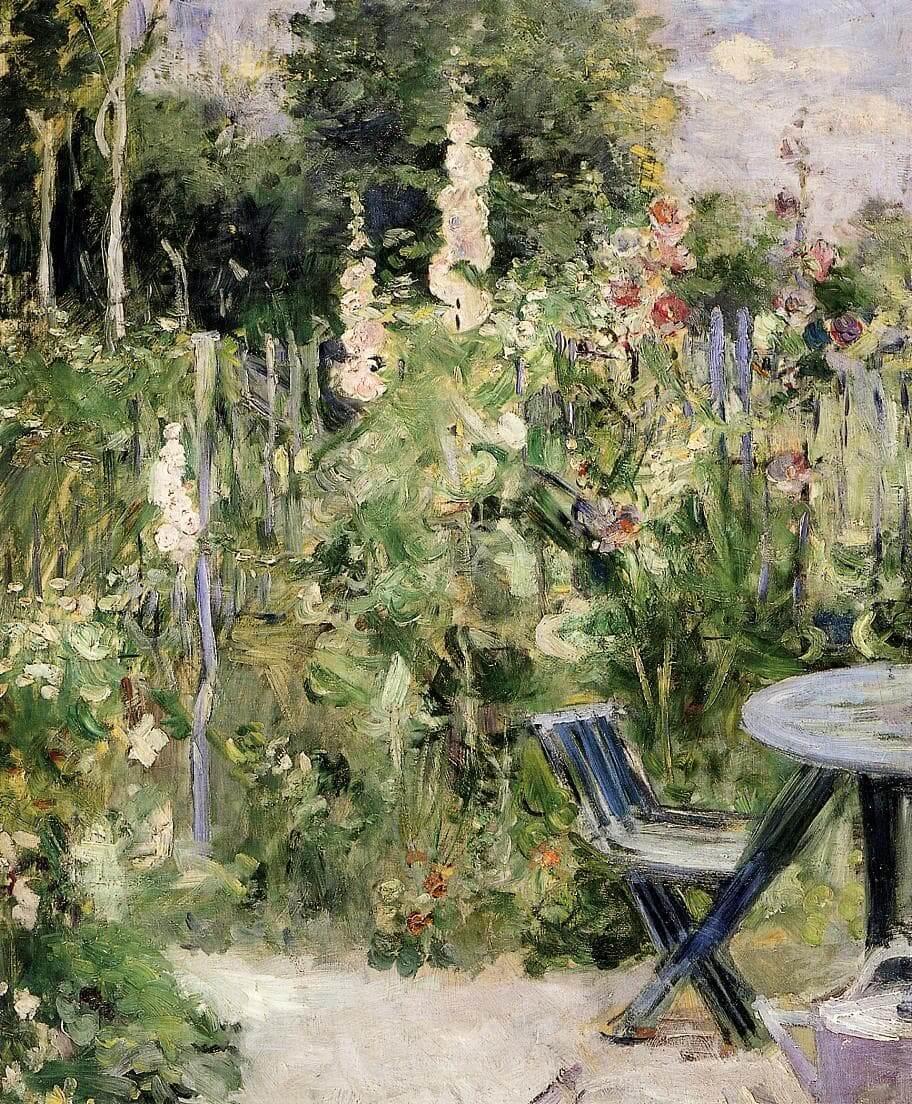 """""""Roses Trémières"""" por Berthe Morisot"""